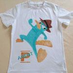 T-Shirt Agent P aus Phineas & Ferb für meinen Sohn Juni 2015