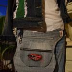 Upcykling HIP BAG aus alten Jeans. November 2016