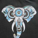 T-Shirt sugar skull Elefant war ein Geschenk Juli 2015