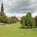 Viel Grün in Edinburgh