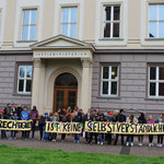 Flashmob vor dem Justizministerium: Justice is not self-evident!