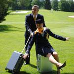 Stewardess von Lufthansa, Golfturnier Lufthansa,