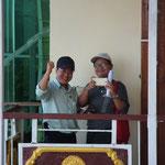 MMR - Pindaya, Shwe U Min, nochmal meine beiden Aufpasser