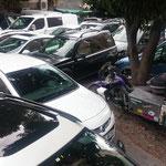 Autoparkplatz auf türkisch
