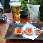 zweites Bier, zweiter Snack