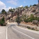parallel zur Küstenstraße nach Antalya war es viel schöner