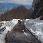 Auffahrt zum Monte Simbruini (eigentlich noch gesperrt)