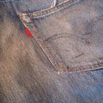 尻&後ろポケットタタキ AFTER 出来る限り穴は目立たない様、着用時には硬さの無い自然な仕上がりに。