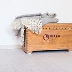 Möbel aus Turngeräten - Kleine Truhe aus Turnkasten