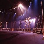 橘宣行の鉄彫刻:惑星ピスタチオ『破壊ランナー』のための舞台美術(1999年)