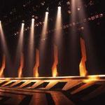 橘宣行の鉄彫刻:惑星ピスタチオ『大切なバカンス』のための舞台美術(1997年)