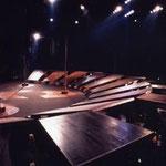 橘宣行の鉄彫刻:惑星ピスタチオ『KNIFE』のための舞台美術(1998年)
