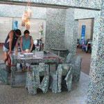 Recyclingmöbel und - pavillon