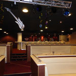 Maritim Hafenhotel (Rheinsberg) Sitzbänke Nachtclub 53°|12°, Foto: Gränz Innenausbau
