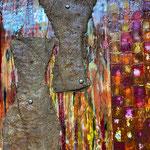 Formen und Gegenstände - Die rostigen Objekte des Alltages, erschaffen aus verschiedenen Materialien, sind Symbol für die Geschwindigkeit der Wandlung und der Zeit, durch die sie Veränderung in ihrer Stofflichkeit erfahren, ihre Formhaftigkeit wieder verl