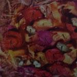 Tomaten in allen Farben - Wiederum soll hier der Kreilauf der Natur, die Entstehung und Vergänglichkeit allen Lebens symbolisiert werden.