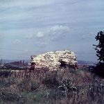 Ruine der Aholzwarte in den 1970er Jahren