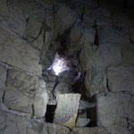 Das Loch im Mauerwerk von Innen