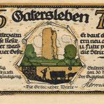 Die Ilenstedter Warte auf einem Notgeldschein der Stadt Gatersleben vom 1921