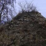 Die Reste der Heidbergwarte 1979