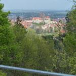 Blick von der Altenburgwarte zur Stadt 2014