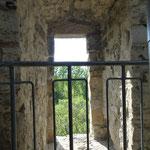 Der ehemalige Eingang in 7 m Höhe