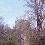 Die Altenburgwarte 1974 mit Geländer