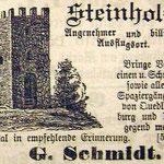 Eine Zeitungsannonce 1901