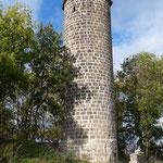 Der fertig verfugte Turm