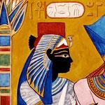 Königin Ahmes Nefertari (18. Dynastie) - Daniela Rutica: Ahmes Nefertari (Detail), Acryl/Lw., 2014