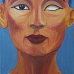 Königin Nofretete (18. Dynastie) - Daniela Rutica: Nofretete, 30 x 60 cm, Acryl/Lw., 2012