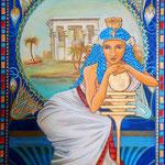 Daniela Rutica: Philae, 50 x 70 cm, Acryl/Lw, 2013