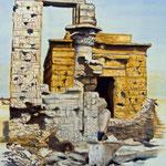Daniela Rutica: Der Tempel von Armant, 90 x 70 cm, Acryl/Lw, 2011