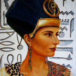 Pharaonin Maatkare Hatschepsut (18. Dynastie) - Daniela Rutica: Hatschepsut, 40 x 60 cm, Acryl/Lw., 2012