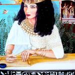 Königin Kleopatra VII. (Ptolemäerzeit) - Daniela Rutica: Kleopatra, 50 x 70 cm, Acryl/Lw., 2012