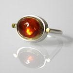 Ring, 925 Silber, 750 Gold, Mandaringranat