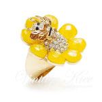 Лот №П388.Американское дизайнерское кольцо.Позолота,кристаллы Сваровски,яркая эмаль.ПРОДАНО