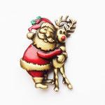 Лот №П310.Тематичкая новогодняя брошь с Дедушкой Морозом от американском компании JJ (смотрите раздел *Известные винтажные марки*).Брошь новая,маркирована.Размер-4.5 х 3 см.ПРОДАНА