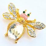 Лот №32.Брошь-пчелка Кеннет Джей Лейн.Позолота 24К,кристаллы Сваровски,кабошоны из стекла.Размер-4.5х3.5 см.Цена-2500 грн