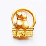 Лот №П448.Влюбленные коты JJ(см.раздел *Известные марки*).Брошь новая,маркирована.Размер-5.5х4 см.ПРОДАНЫ