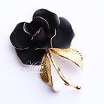 Лот №П419.Черная роза Cerrito,идеальная сохранность,маркировка.Брошь объёмная,3D эффект.Размер-6 см.ПРОДАНА