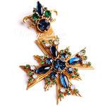 Лот №П905.Винтажная брошь-крест Florenza.ПРОДАНА