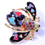 Лот №23.Винтажная брошь-пчелка Джоан Риверс.Бижутерный сплав под золото,эмаль,кристаллы Сваровски.Размер-3х3.5 см.Цена-3000 грн
