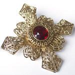 Лот №41.Интересная винтажная брошь-мальтийский крест в прекрасной сохранности.Крупная (7 см),но при этом очень легкая.Цена-1600 грн