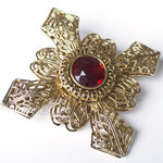 Лот №58.Интересная винтажная брошь-мальтийский крест в прекрасной сохранности.Крупная (7 см),но при этом очень легкая.Цена-1600 грн