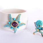 Лот №П866.Брасле с морской цвездой и кольцо-осминого от Kenneth Jay Lane.ПРОДАНЫ