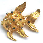Лот №42.Винтажная брошь-рыбка коллекционного дорогостоящего дизайнера Hattie Carnegie. Размер-4 см.Цена-2800 грн