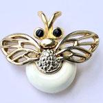 Лот №25.Винтажная брошь пчелка.Бижутерный сплав под золото,эмаль,размер-4 см.Цена-1400 грн