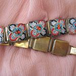 Лот № П191. Старинный браслет 1920х годов,техника микромозайка(см раздел Известные винтажные марки).ПРОДАН