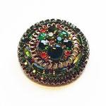 Лот №П349.Винтажная брошь 50-х г. WEISS(см. *Известные винтажные марки*),маркирована.Диаметр-5 см.На металле имеется патина,все камни в отличном состоянии.ПРОДАНА